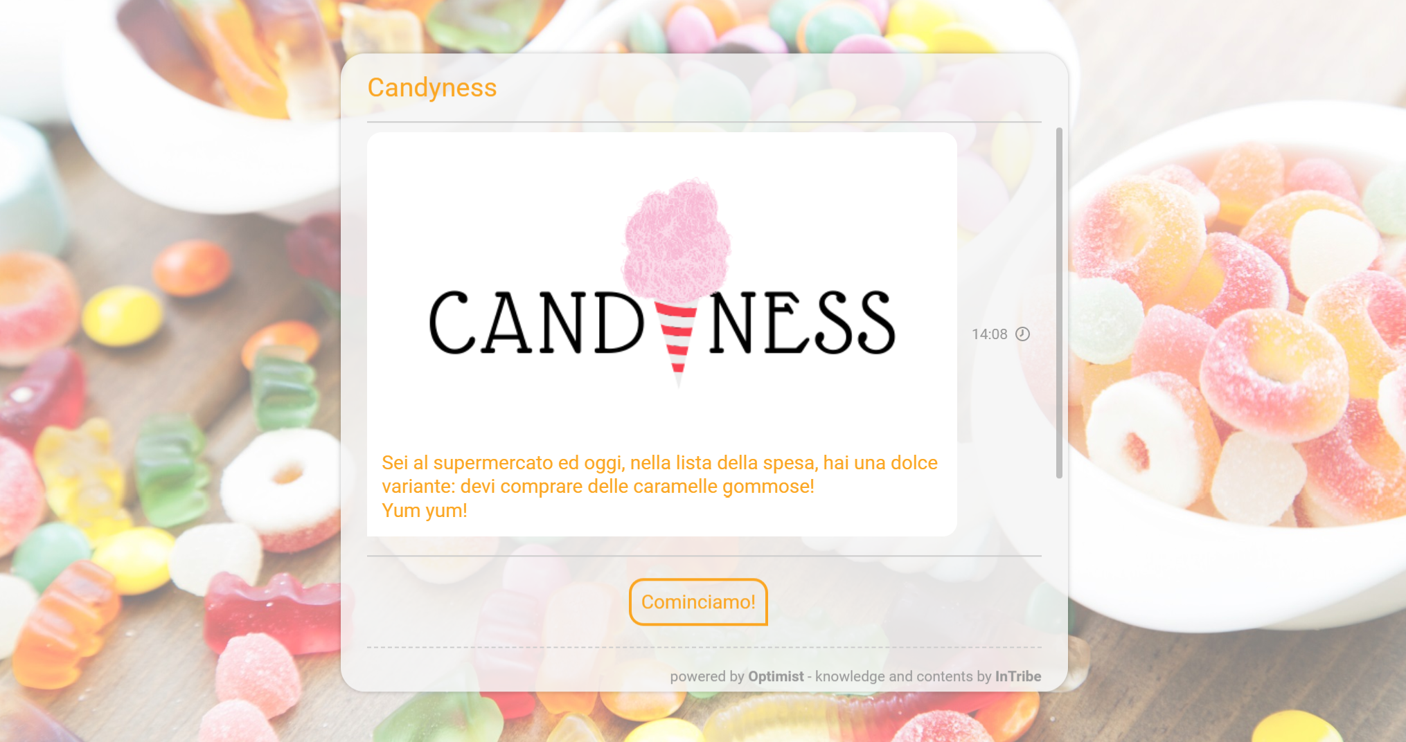 candyness brand awareness intribe survey indagini